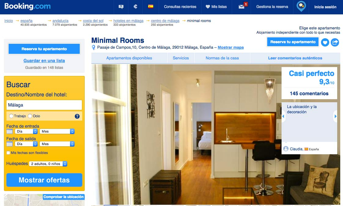 Booking-minimal-rooms