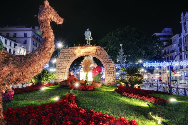 malaga navidad luces belen alameda